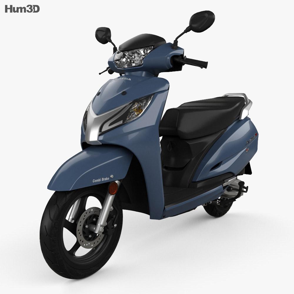 Honda Activa 125 2019 3d model