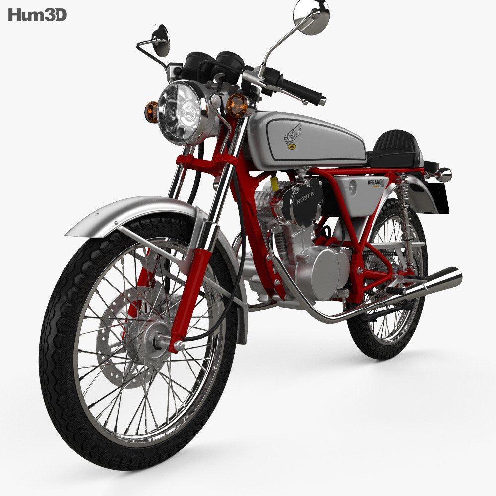 Honda CB50V Dream 50 1997 3d model