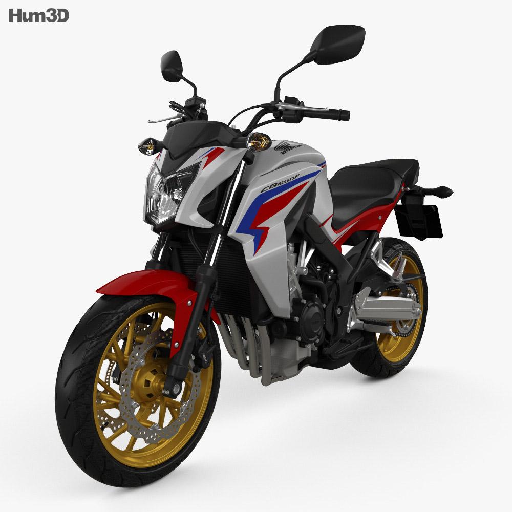 Honda Models 2015 >> Honda Cb 650f 2015 3d Model Vehicles On Hum3d