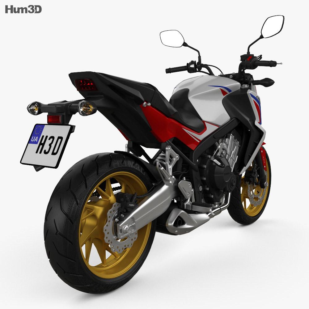 Honda CB 650F 2015 3d model