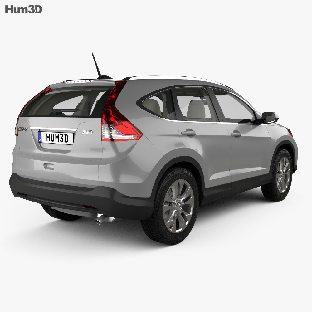 Honda CR-V US with HQ interior 2012 3d model