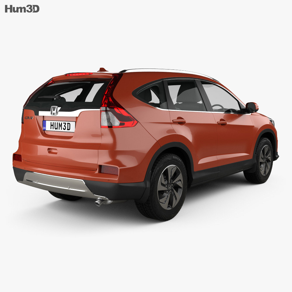 Honda CR-V (RM) UK-spec 2017 3d model