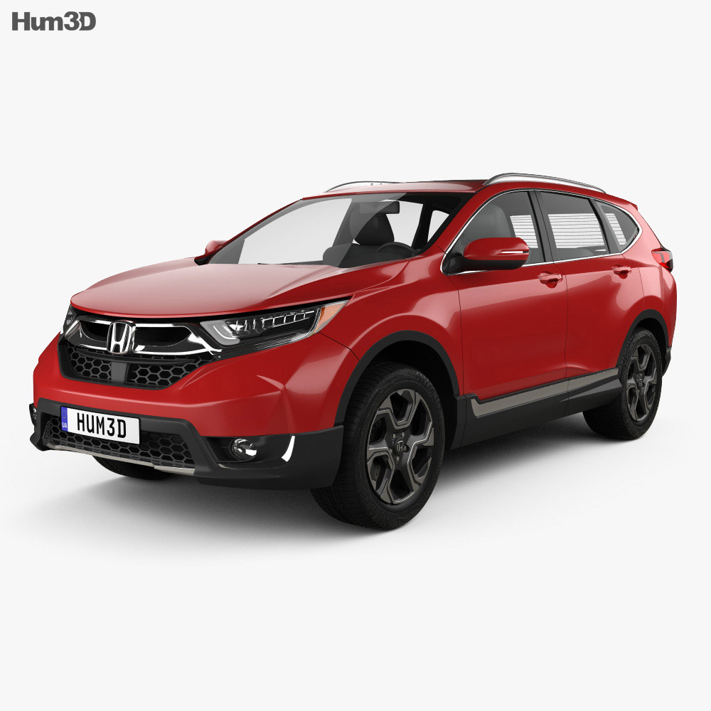 honda cr v touring 2017 3d model vehicles on hum3d. Black Bedroom Furniture Sets. Home Design Ideas