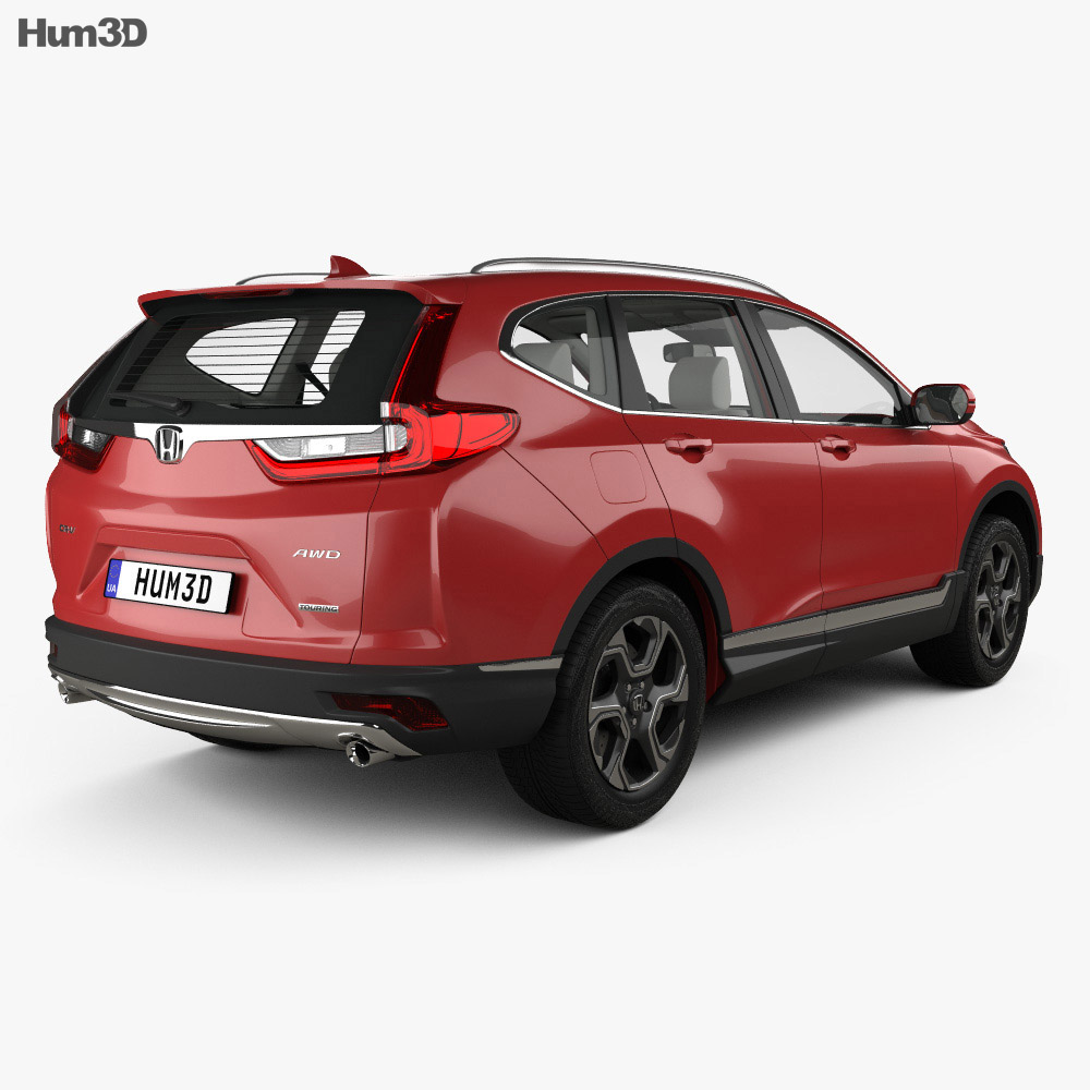 Honda CR-V Touring with HQ interior 2017 3d model