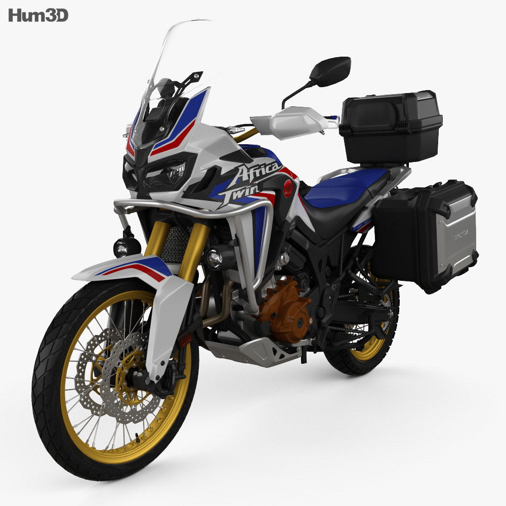 Honda crf1000l africa twin 2016 3d model hum3d for Honda 2016 models