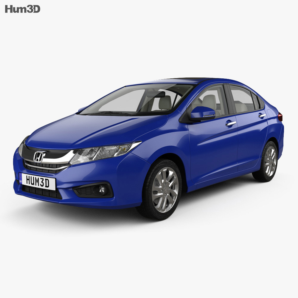 Honda City with HQ interior 2014 3d model