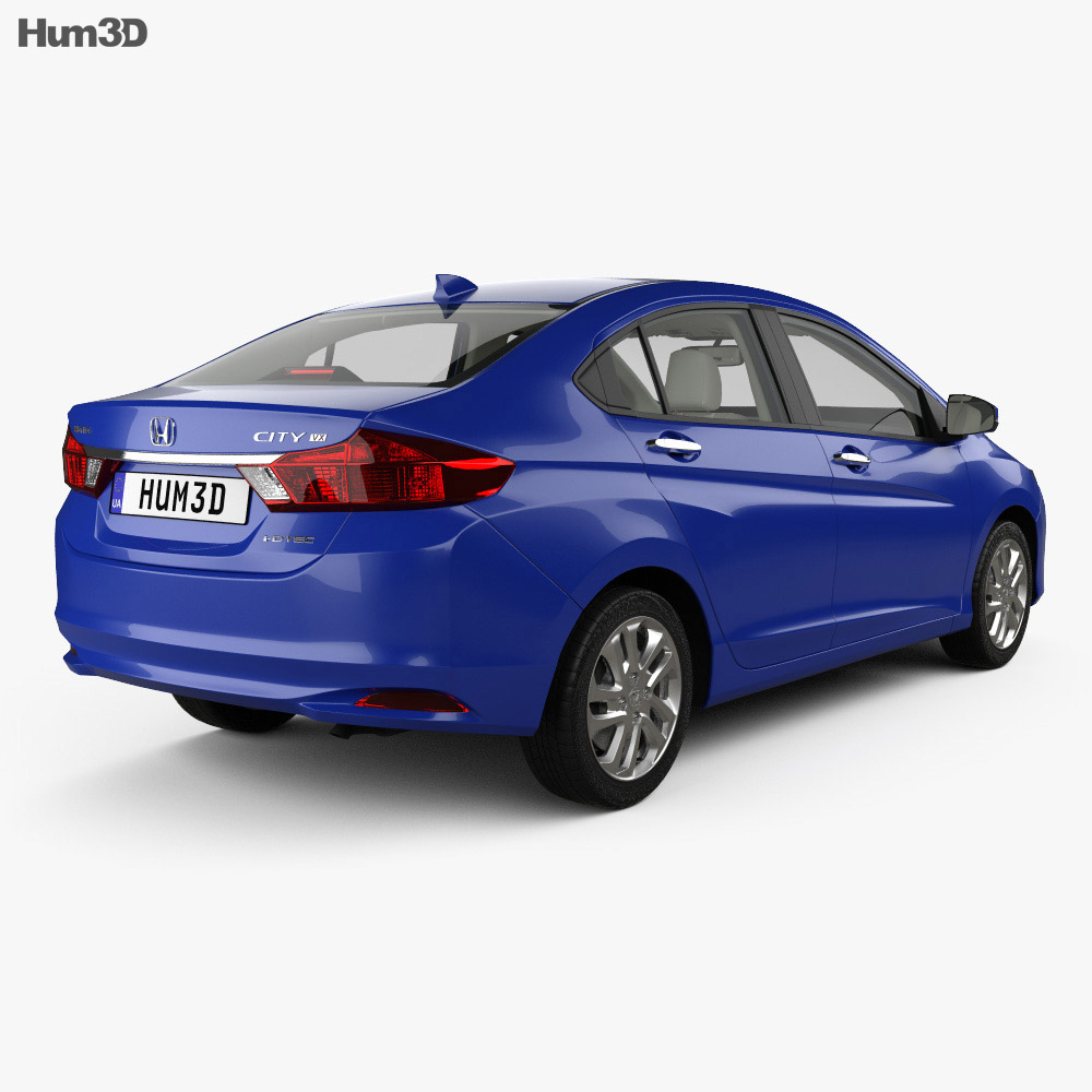 honda city with hq interior 2014 3d model humster3d