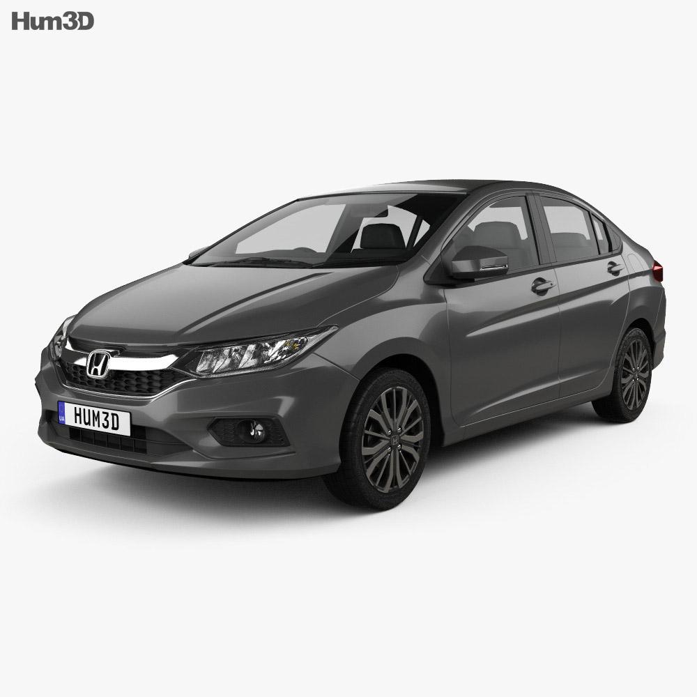 Honda City 2017 3D model - Hum3D