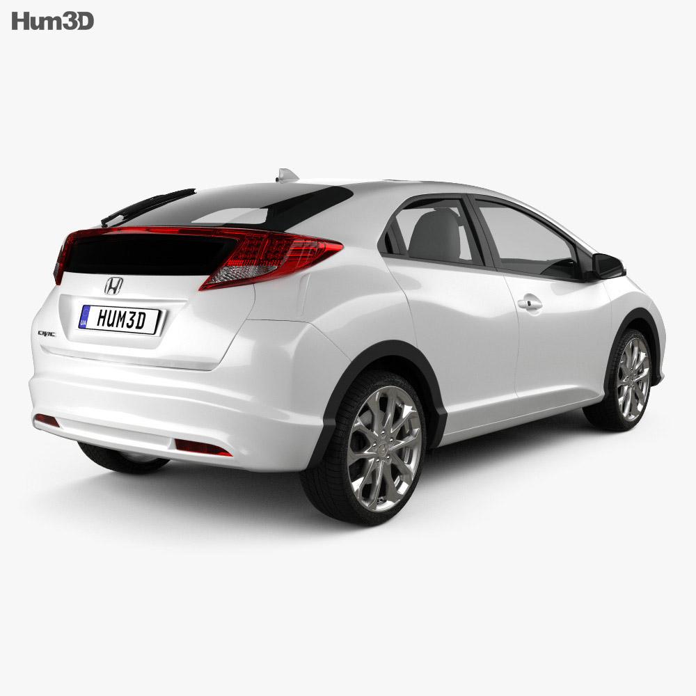 Honda Civic EU 2012 3d model