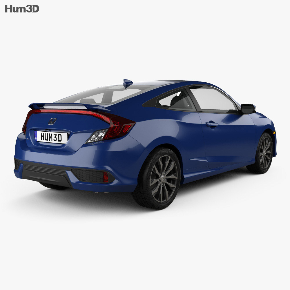Honda civic coupe 2016 3d model hum3d for Honda 2016 models