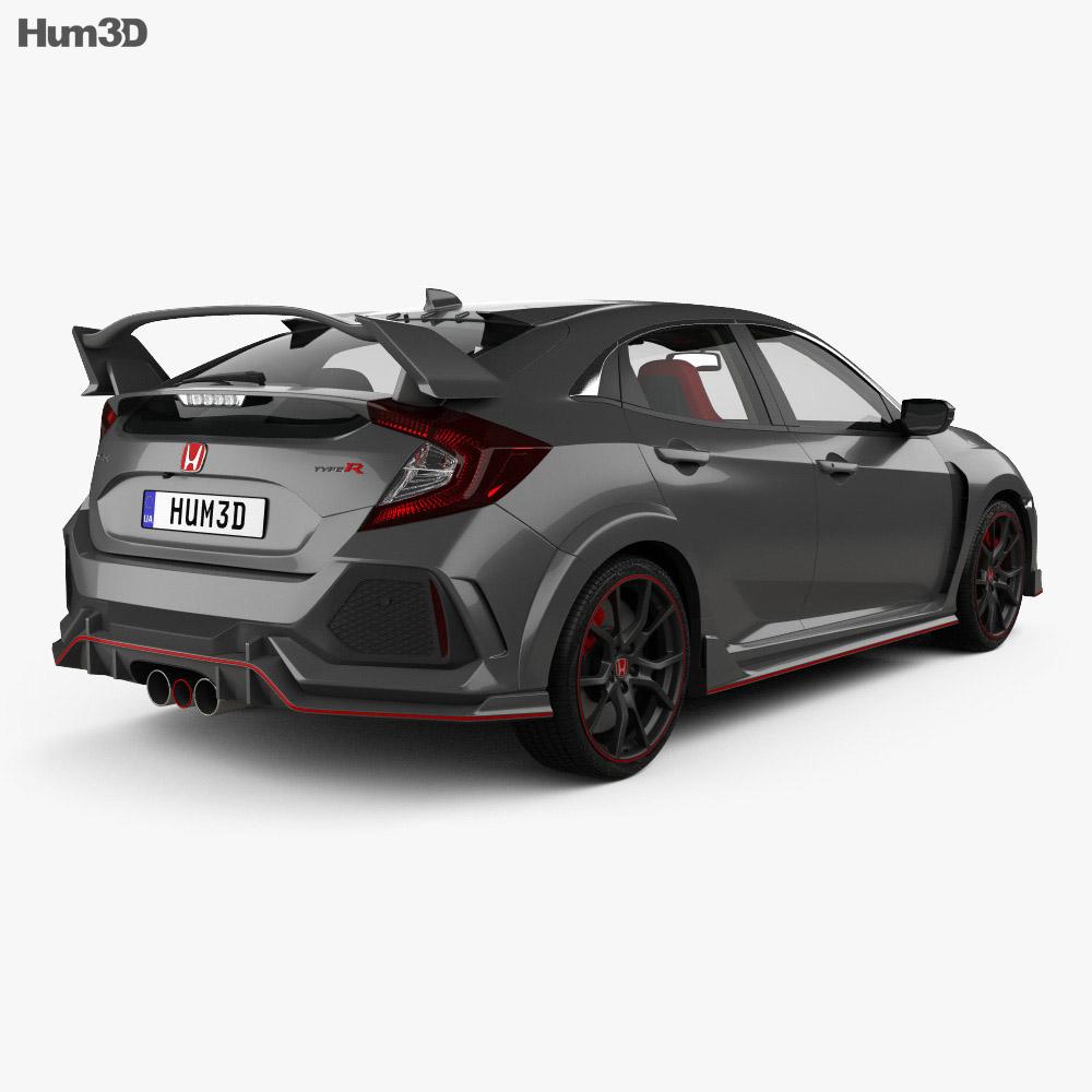 Honda Civic Type-R Prototype hatchback with HQ interior 2016 3d model