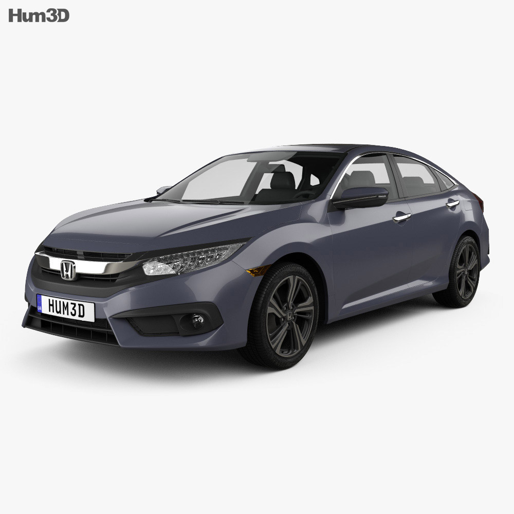 honda civic sedan touring 2016 3d model hum3d