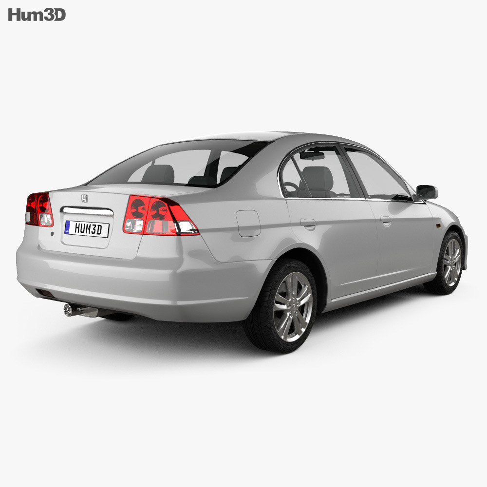Honda Civic 2001 3d model