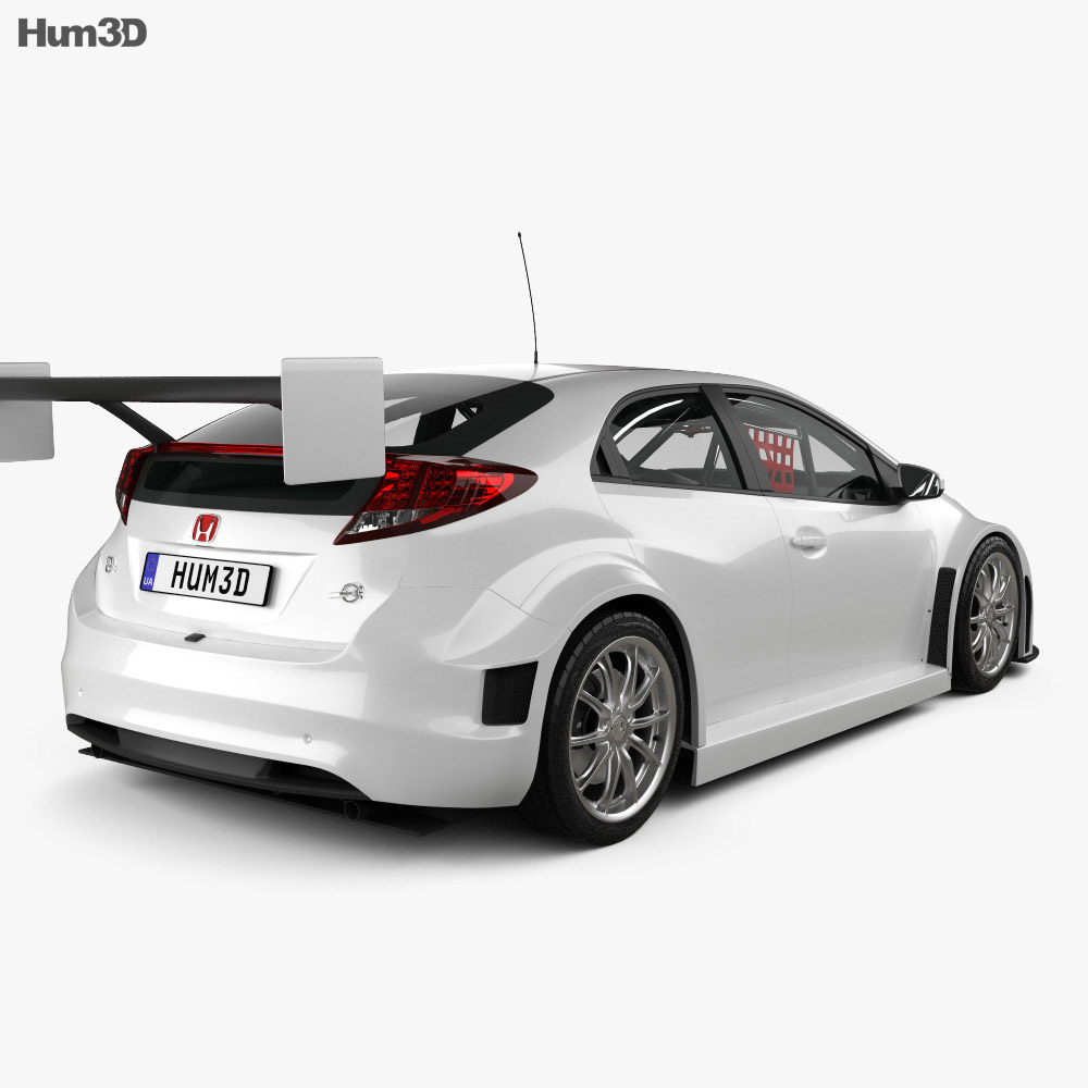 Honda Civic WTCC 2014 3d model