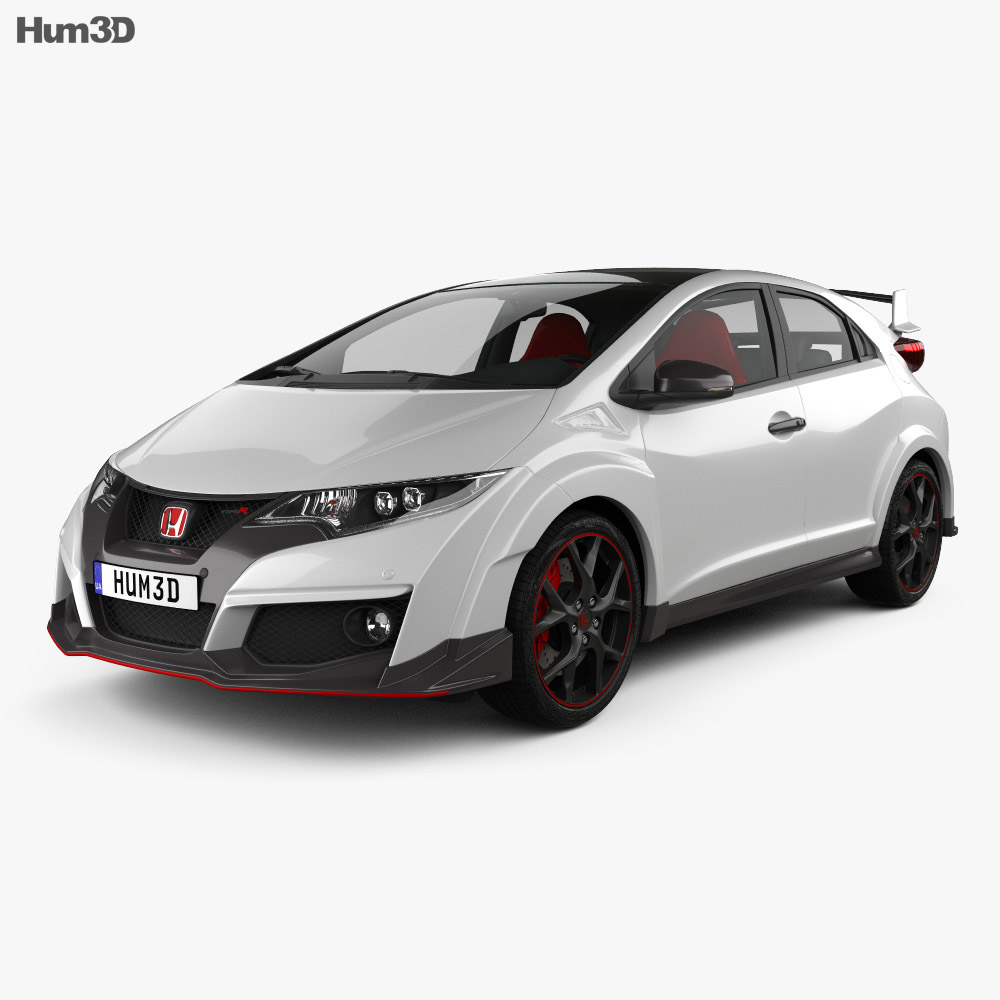 honda civic type r hatchback 2015 3d model hum3d