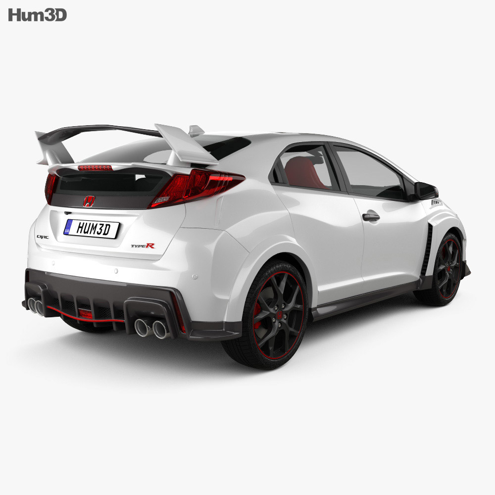 honda civic type r hatchback 2015 3d model humster3d. Black Bedroom Furniture Sets. Home Design Ideas