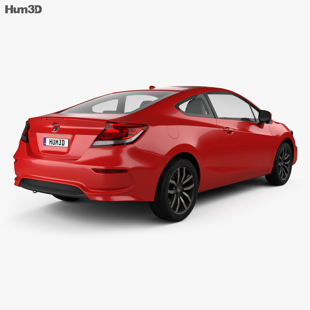Honda Civic coupe 2014 3d model