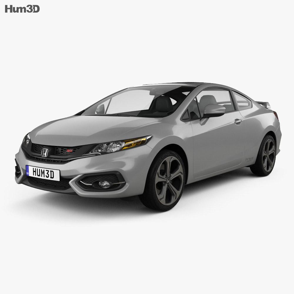 Honda Civic coupe Si 2014 3d model