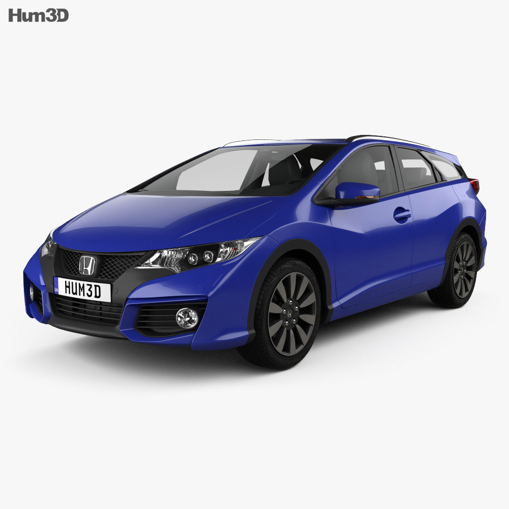 Honda civic tourer 2015 3d model humster3d for 2015 honda civic models
