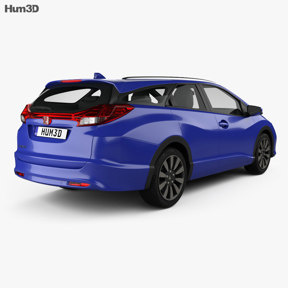 honda civic tourer 2015 3d model humster3d