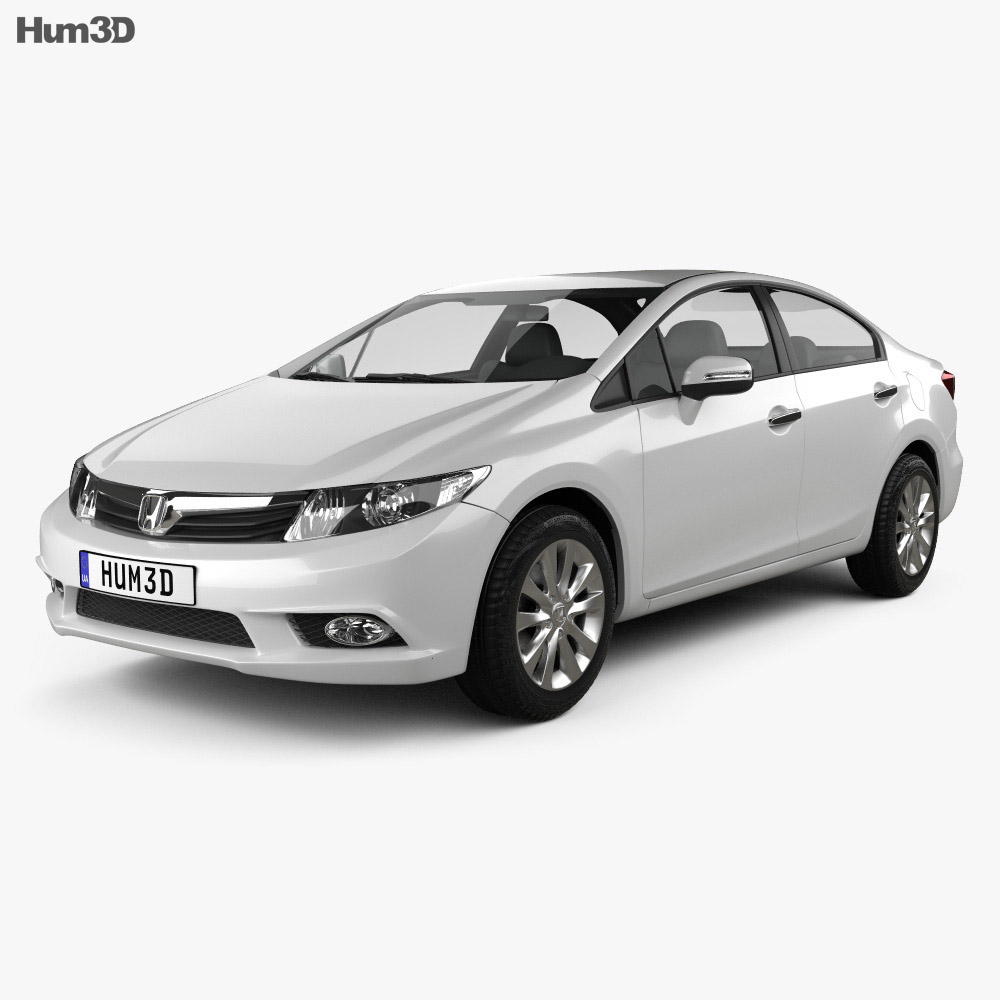 Honda Civic Sedan 2012 3d model