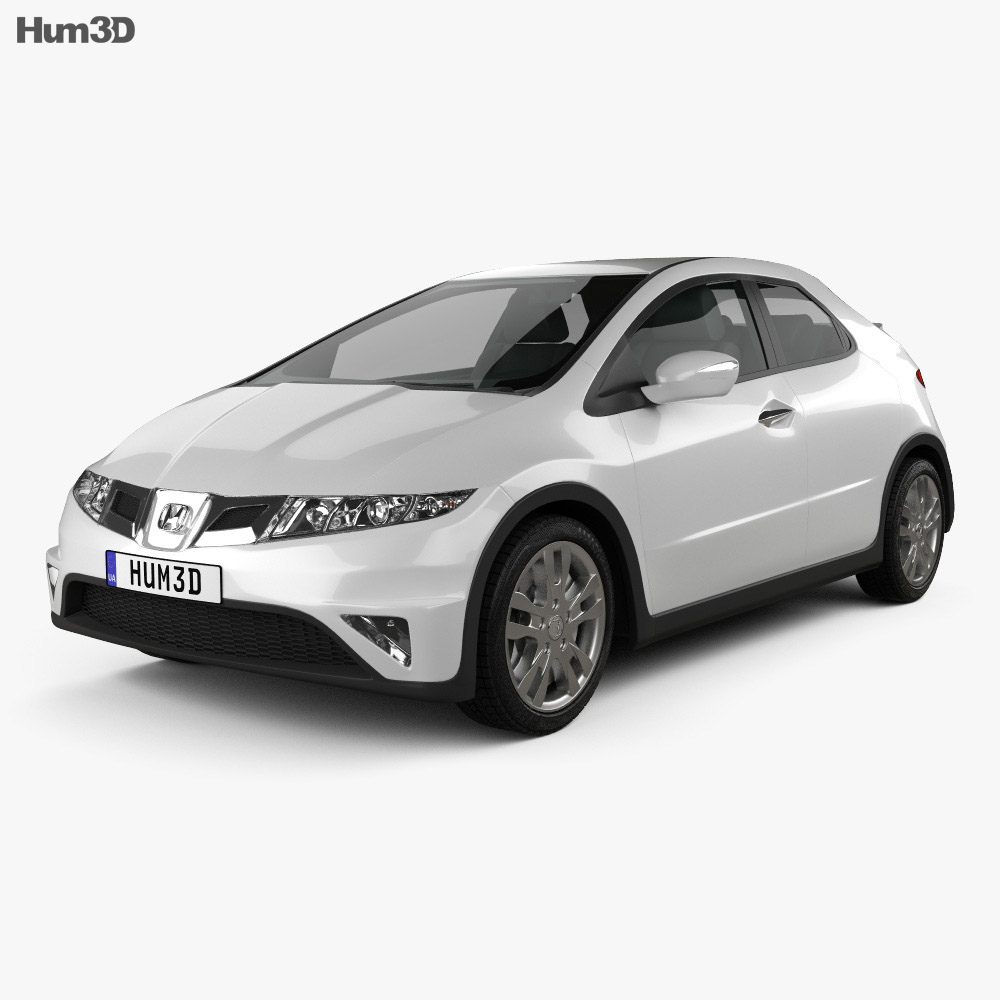 Honda Civic TypeR 2007 3d model