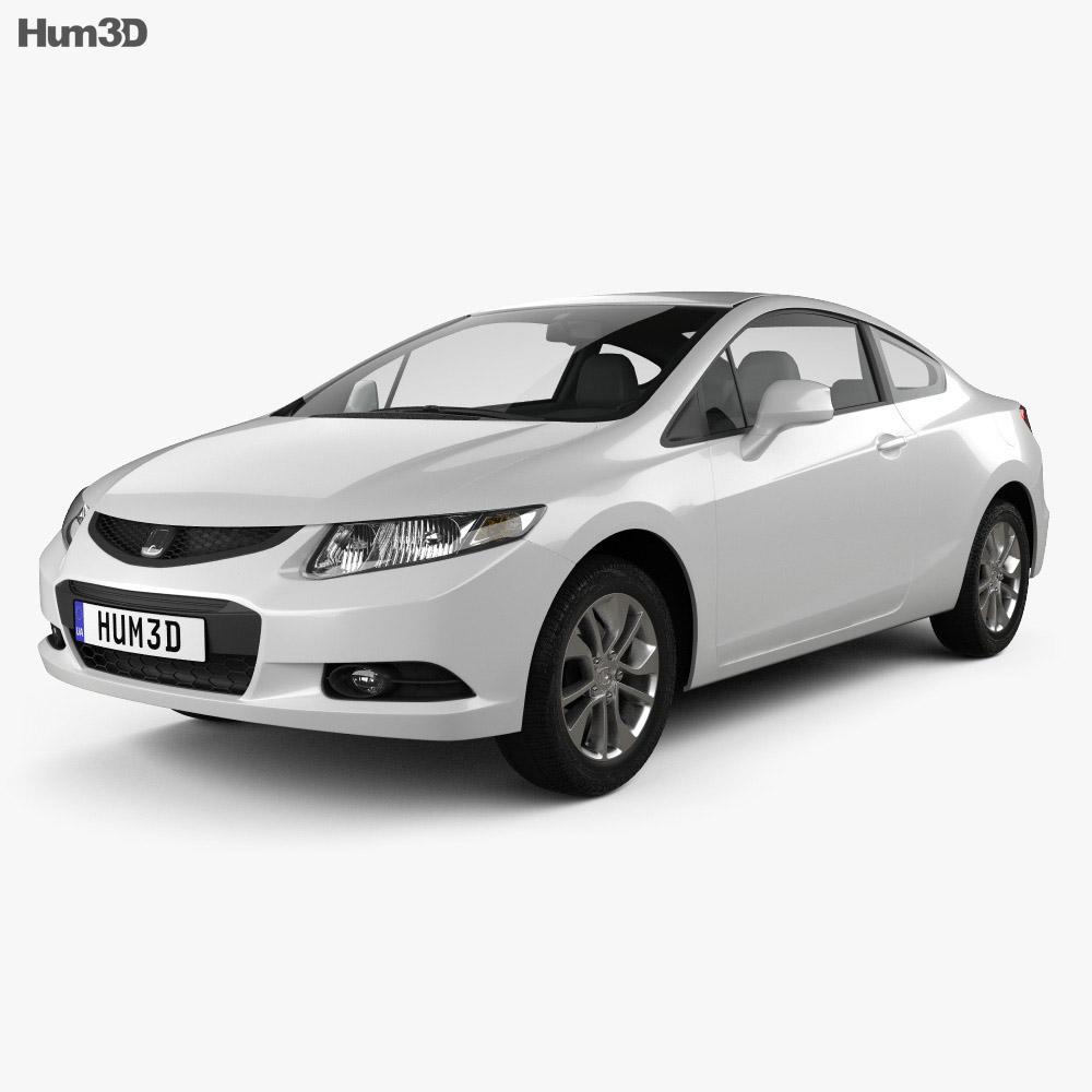 Honda Civic coupe 2013 3d model