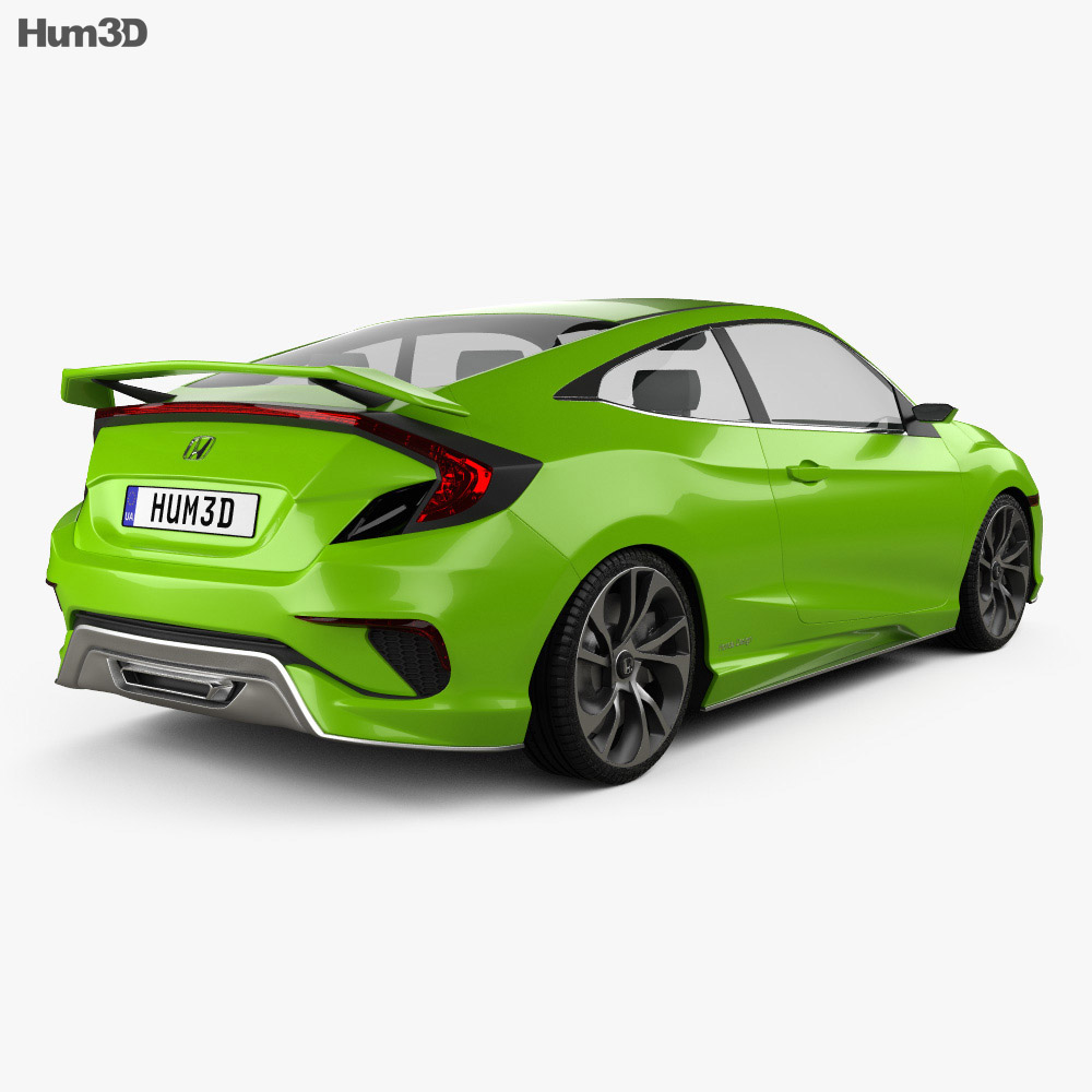 Honda Civic coupe Concept 2015 3d model