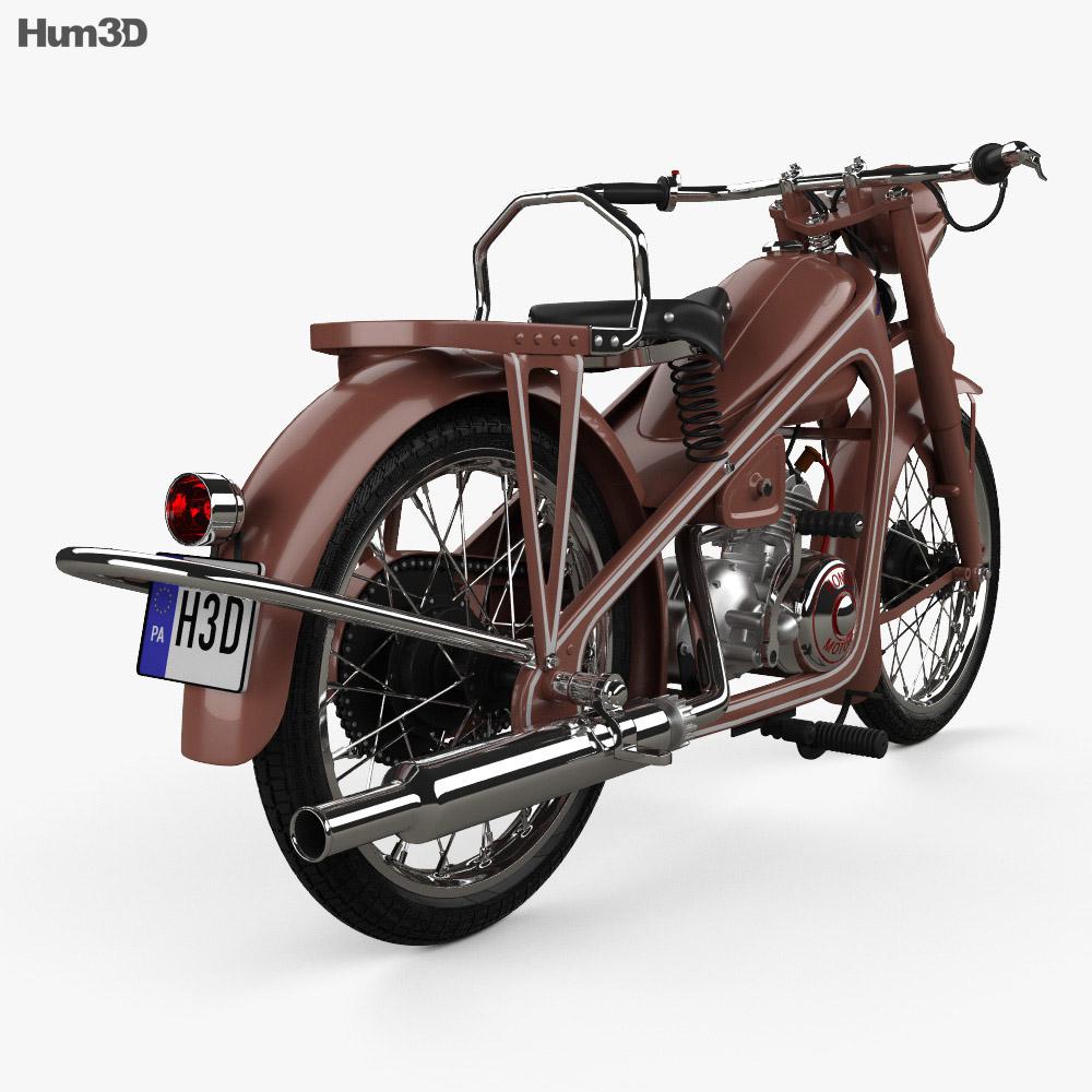 Honda Dream Type D 1951 3d model