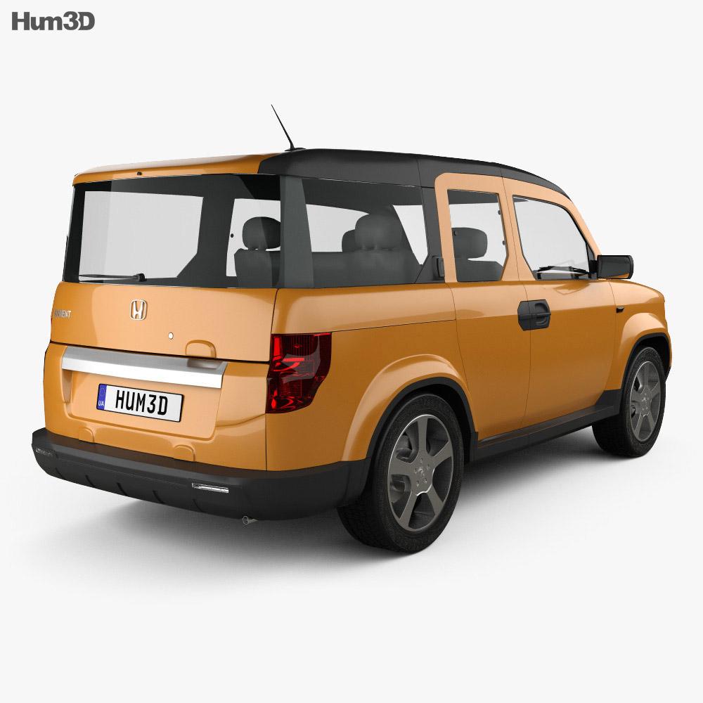 Honda Element EX 2008 3d model back view