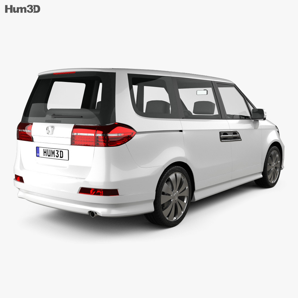 Honda Elysion 2012 3d model back view