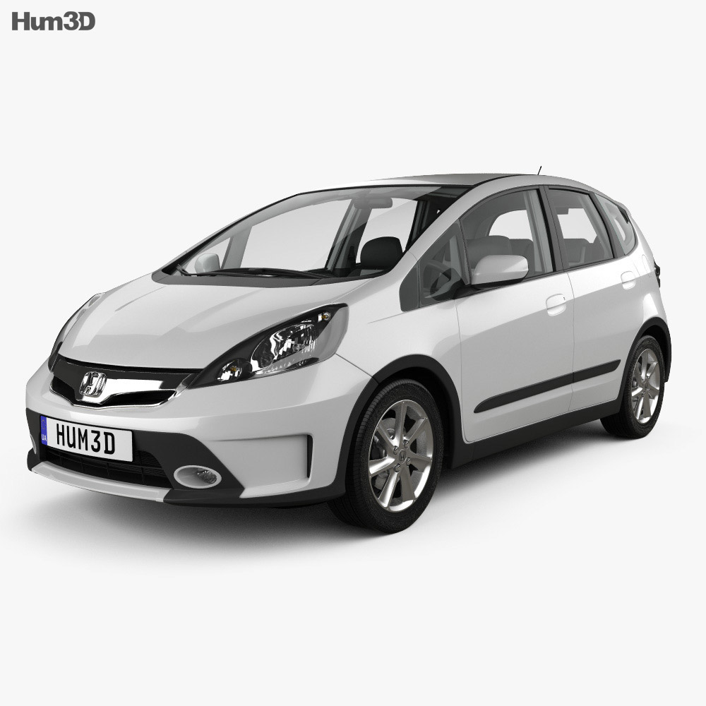 Honda Fit (GE) Twist with HQ interior 2013 3d model