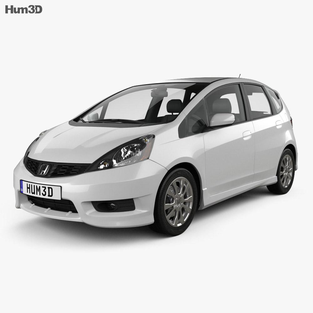 Honda Fit (Jazz) Sport 2012 3d model