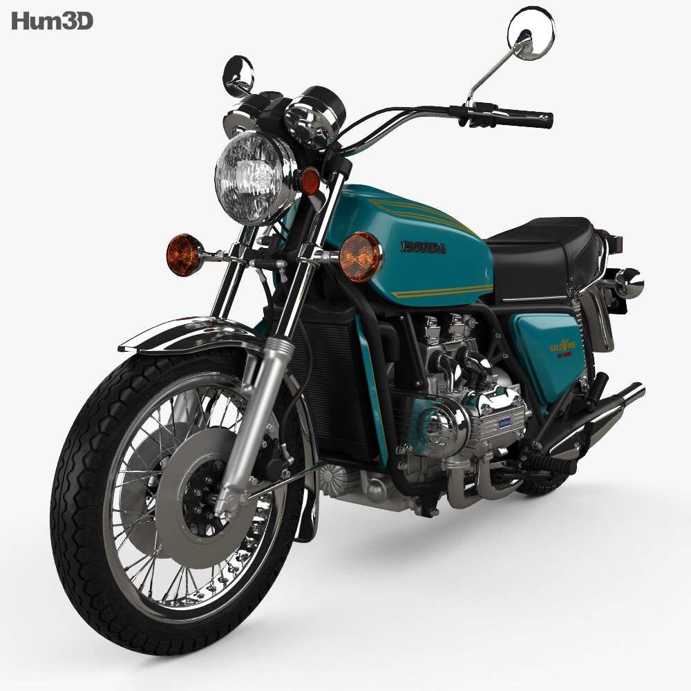 Honda GL1000 Gold Wing 1974 3d model