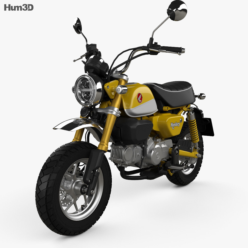 honda monkey 125 2019 3d model vehicles on hum3d. Black Bedroom Furniture Sets. Home Design Ideas