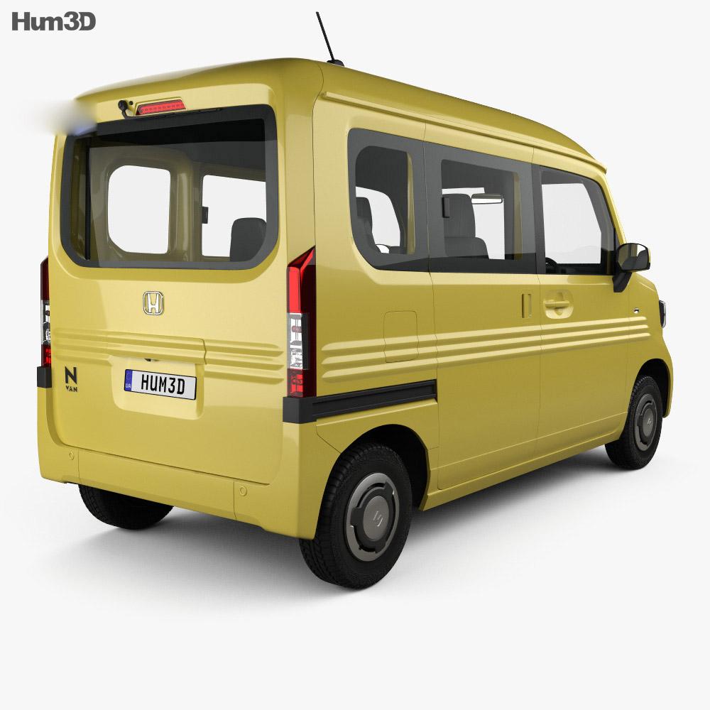 Honda N-Van Style Fun with HQ interior 2018 3d model