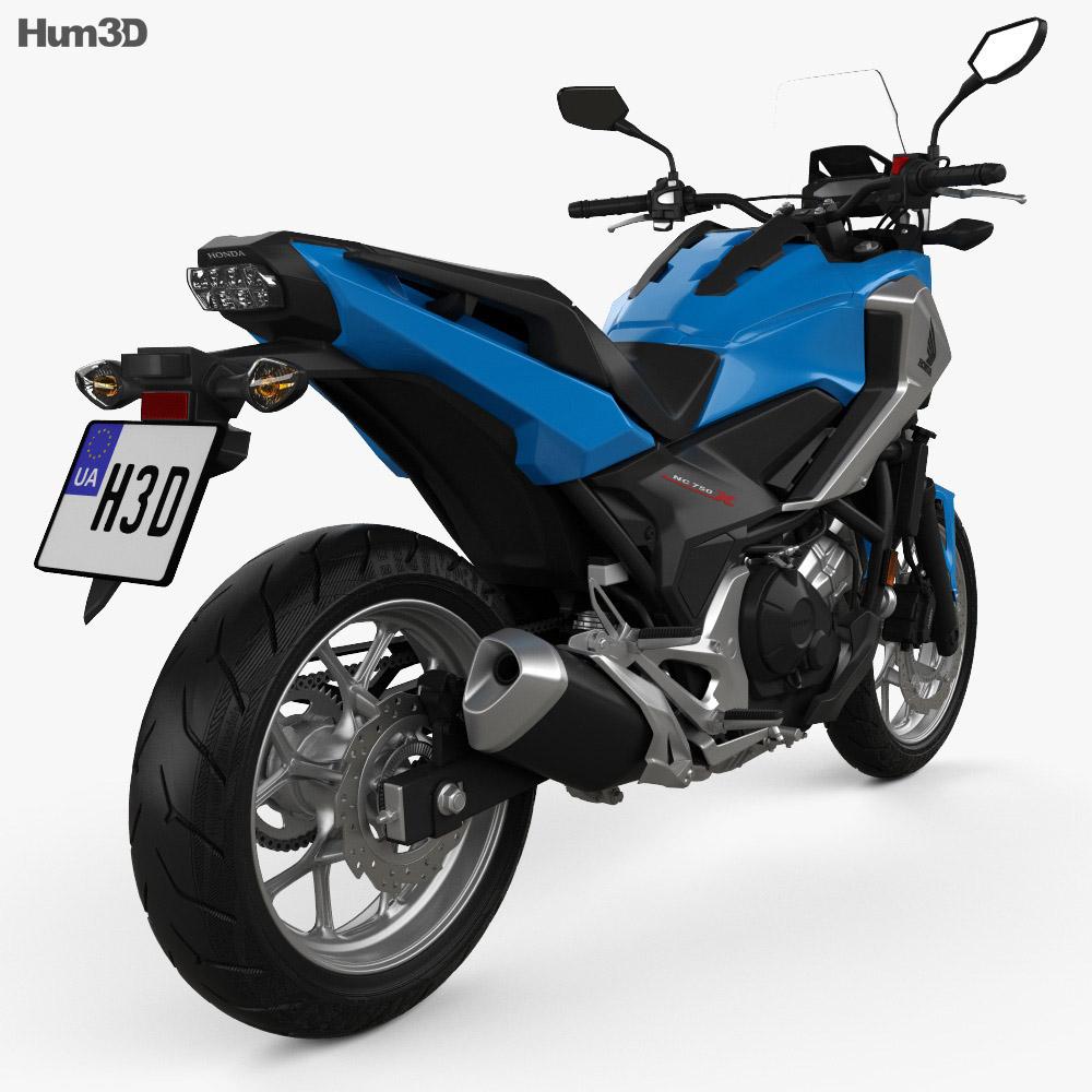 Honda NC750X 2016 3d model