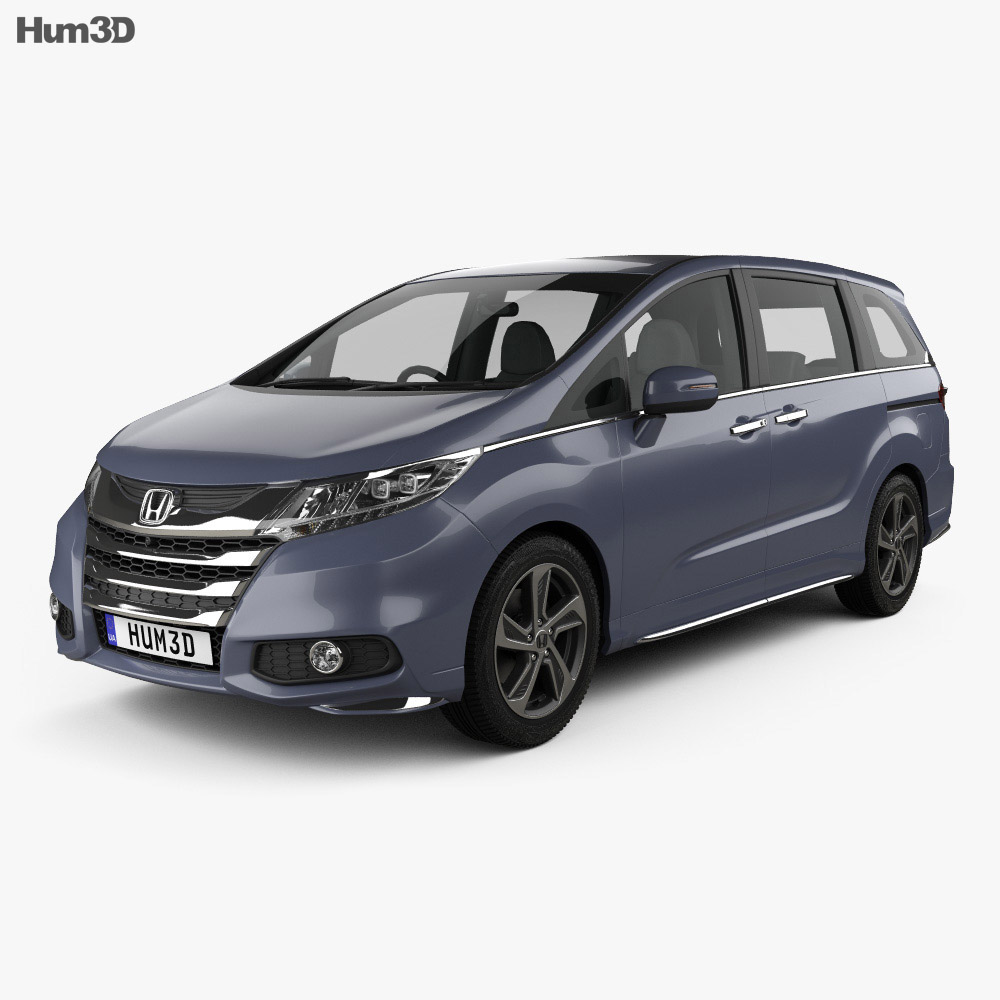 Honda Odyssey Absolute 2013 3d model