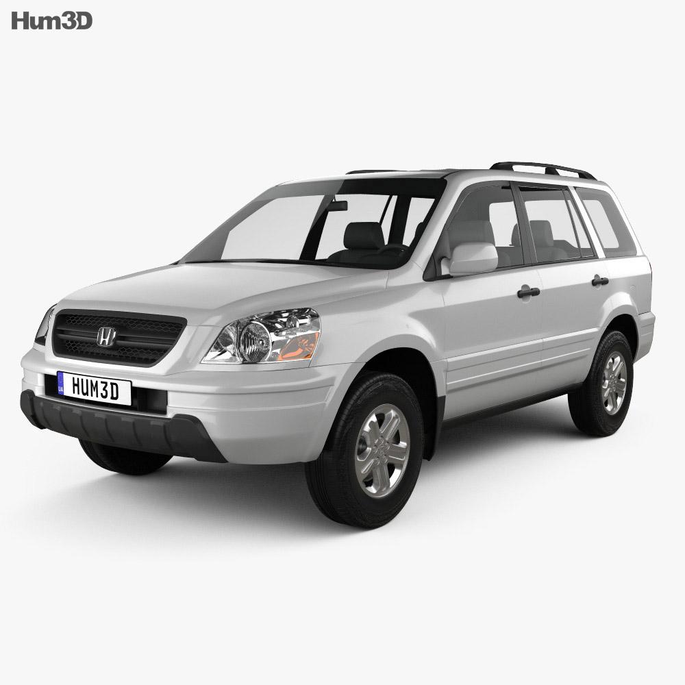 Honda Pilot EXL 2003 3d model