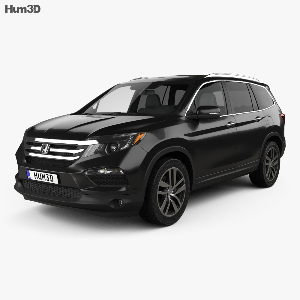 Honda pilot elite 2016 3d model hum3d for Honda 2016 models