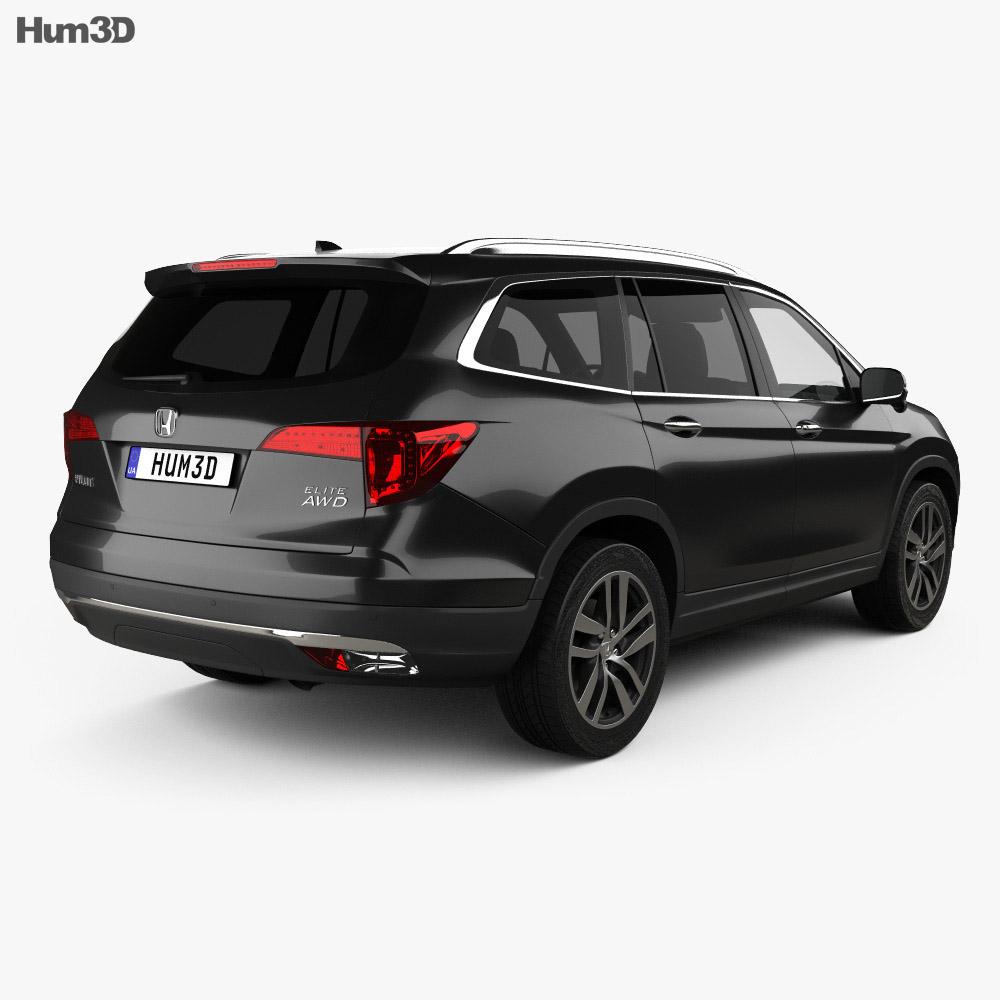 Honda Pilot Elite 2016 3d model