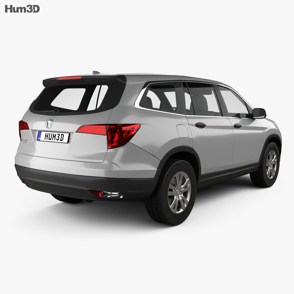 Honda pilot lx 2016 3d model hum3d for Honda 2016 models