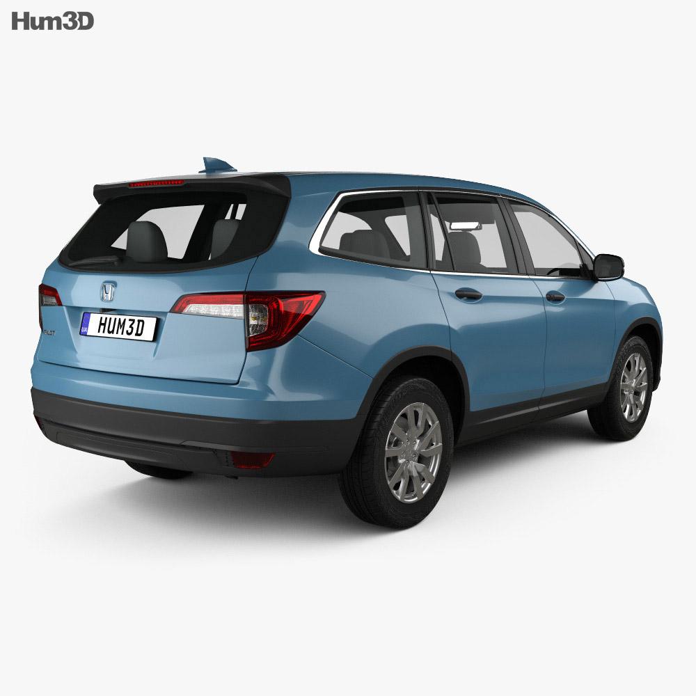 Honda Pilot LX 2019 3d model