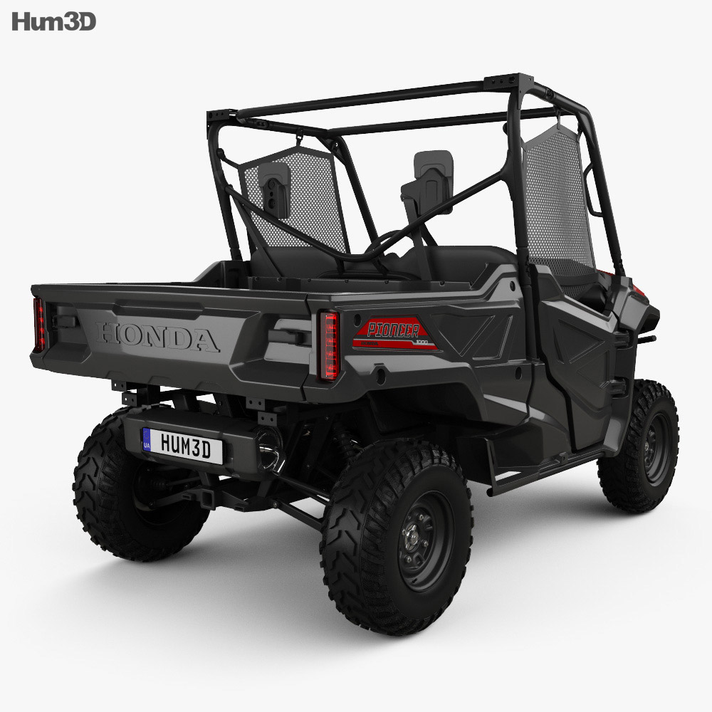 honda pioneer 1000 3 2016 3d model hum3d. Black Bedroom Furniture Sets. Home Design Ideas