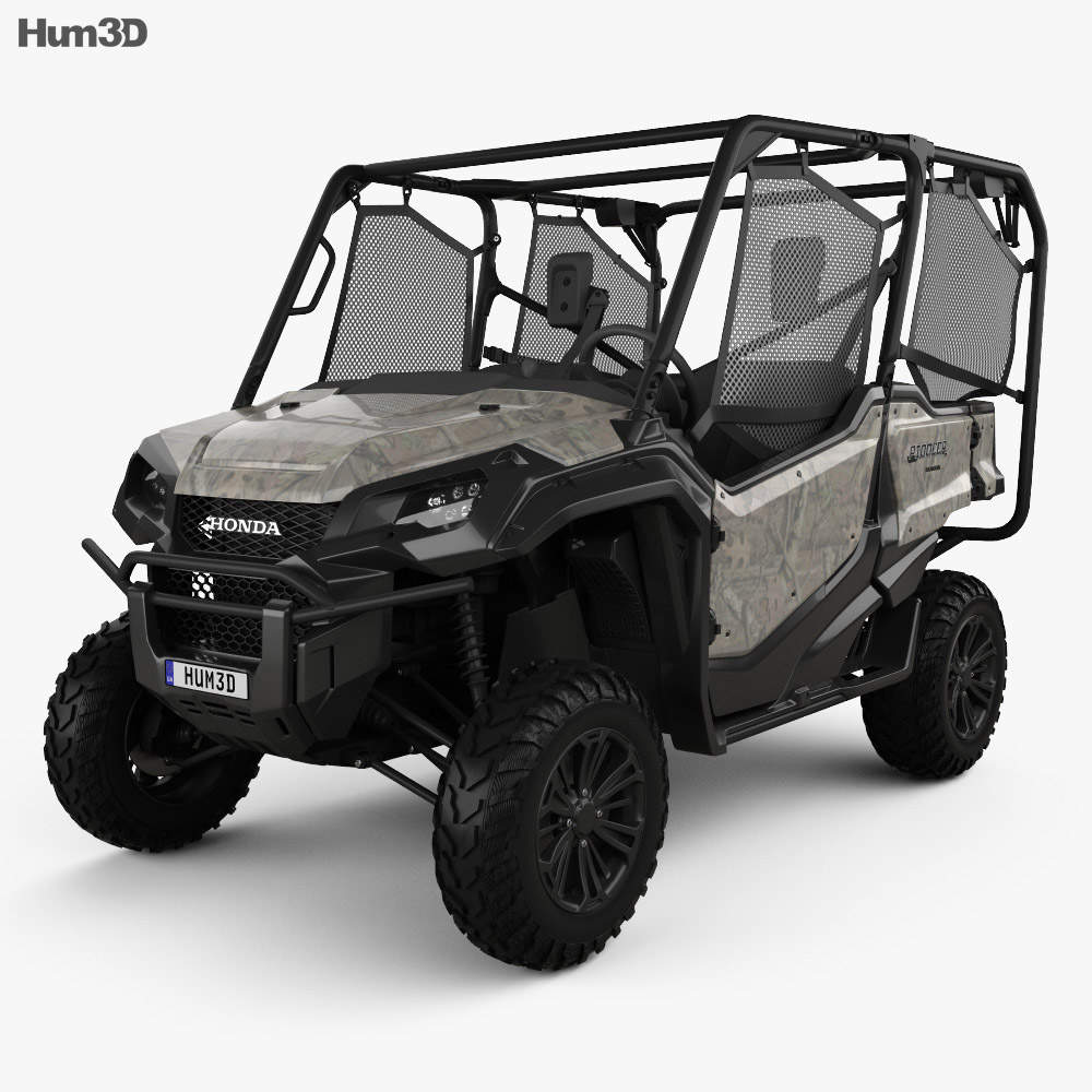 honda pioneer 1000 5 2016 3d model hum3d. Black Bedroom Furniture Sets. Home Design Ideas