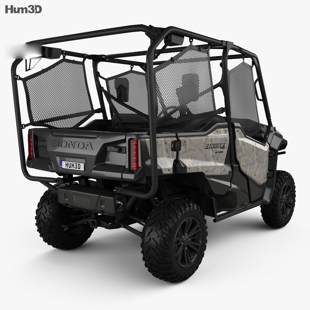 honda pioneer 1000 5 2016 3d model vehicles on hum3d. Black Bedroom Furniture Sets. Home Design Ideas