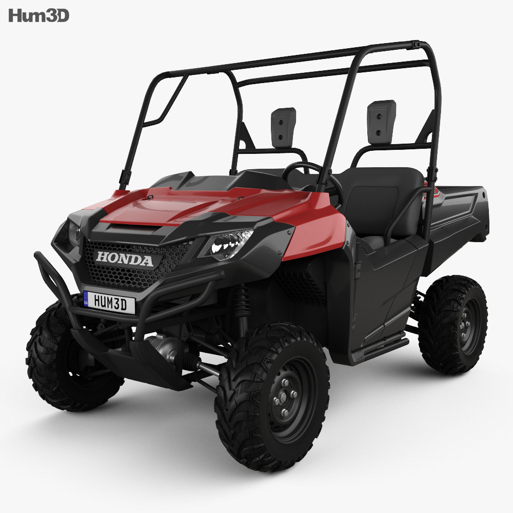 Honda pioneer 700 2 2016 3d model hum3d for Honda 2016 models