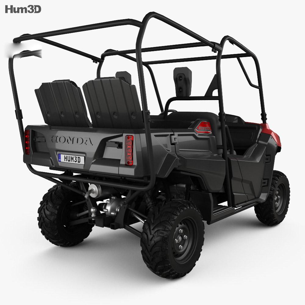 Honda Pioneer 700-4 2016 3d model