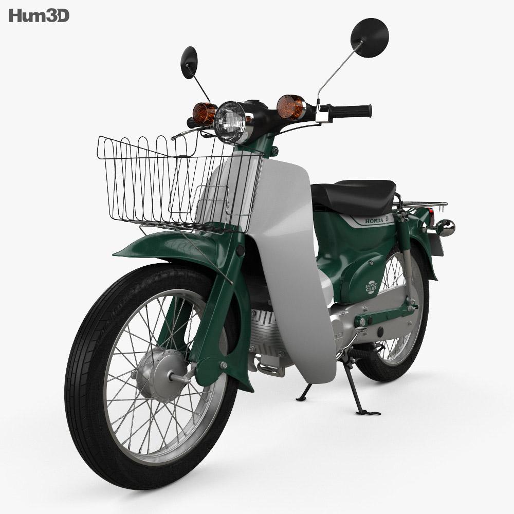 Honda Super-Cub 1971 3d model