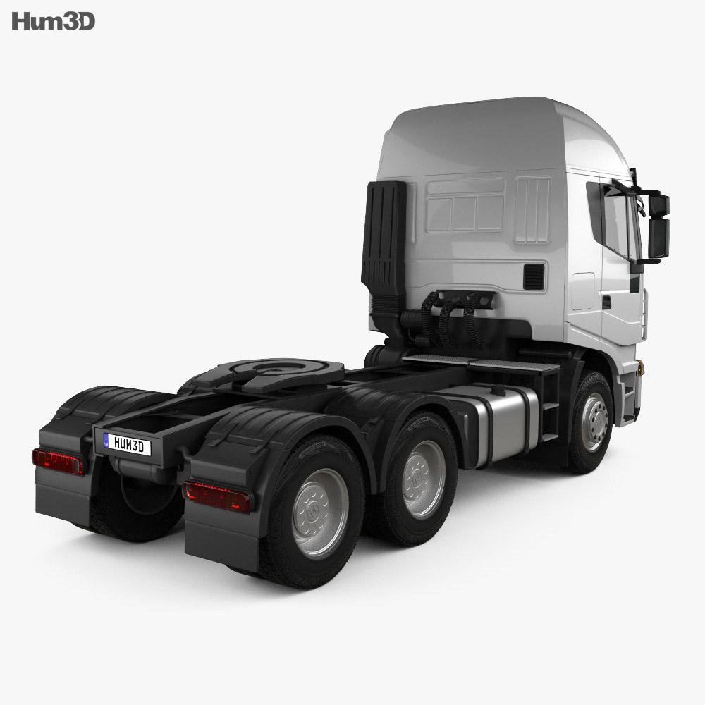 Hongyan Genlyon 380 Tractor Truck 2009 3d model